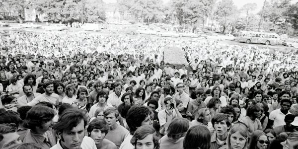 A crowd of students